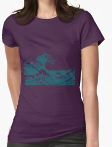 Blue Great Wave Mount Fuji Shirt Womens Fitted T-Shirt