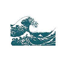 Blue Great Wave Mount Fuji Shirt Photographic Print