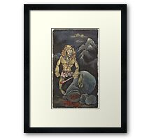 Killer Lion Framed Print