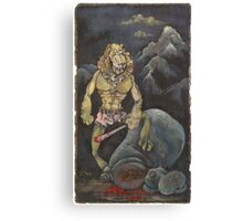 Killer Lion Canvas Print