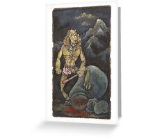 Killer Lion Greeting Card