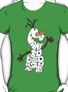 Olaf Outlined: Do You Want to Build a Snowman? T-Shirt