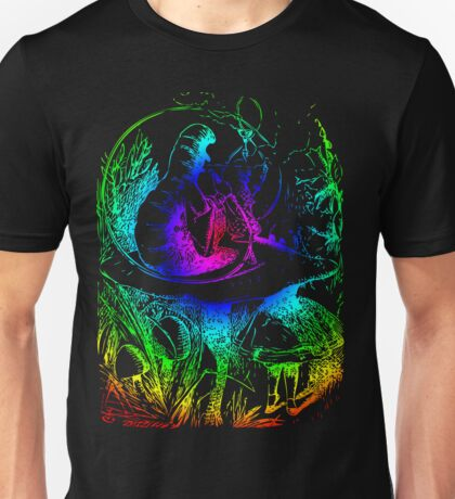 Psychadelic Mushroom Alice in Wonderland Unisex T-Shirt