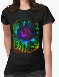 Psychadelic Mushroom Alice in Wonderland Womens Fitted T-Shirt