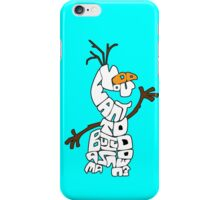 Olaf Outlined: Do You Want to Build a Snowman? iPhone Case/Skin