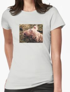 Blue eyed beauty Womens Fitted T-Shirt