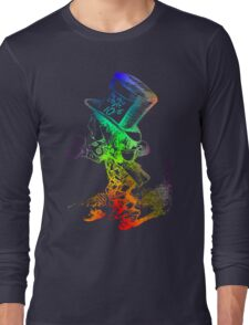 Psychedelic Mad Hatter Trippy Alice Long Sleeve T-Shirt