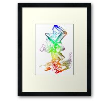 Psychedelic Mad Hatter Trippy Alice Framed Print