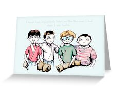 Two For Flinching Greeting Card