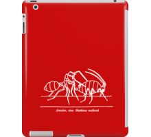 Ant & Aphid (60s schoolbook illustration) white iPad Case/Skin