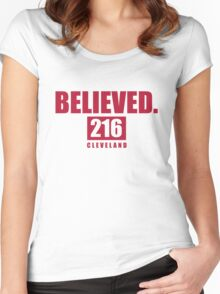Believed - Cleveland - Finals tee Women's Fitted Scoop T-Shirt
