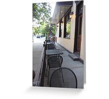Outside the Cafe Greeting Card