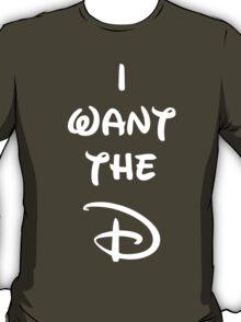 Black I want the D (Disney inspired) Bachelor or Bachelorette shirt T-Shirt