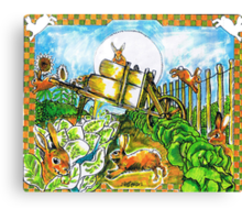 Rambunctious Rabbits Canvas Print