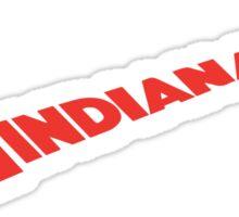 Indiana Swoosh Sticker