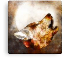 abstract howling wolf Canvas Print