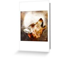 abstract howling wolf Greeting Card