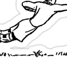 Goalie Defense (schoolbook illu 50s) Sticker