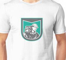 Cameraman Film Crew HD Camera Video Side Retro Unisex T-Shirt