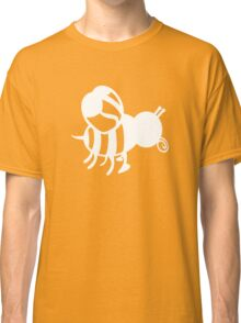 White Honey Bee Symbol Save A Bee Honey Bee Awareness Classic T-Shirt