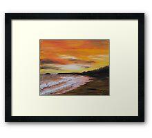 Sunset in Cornwall  Framed Print