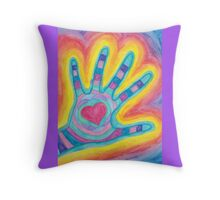 Healing Hand Throw Pillow
