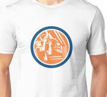 Auto Mechanic Automobile Car Repair Circle Retro Unisex T-Shirt