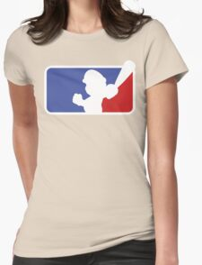 Major League Mario Womens Fitted T-Shirt