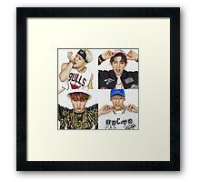 GOT7 X NBA Framed Print
