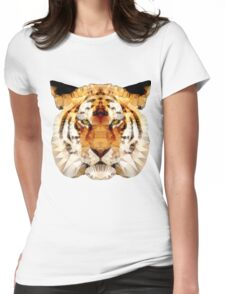 abstract tiger Womens Fitted T-Shirt