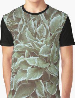 Green Leaves Plant, Hosta Graphic T-Shirt