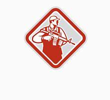 Soldier Serviceman Military Assault Rifle Shield Retro Unisex T-Shirt