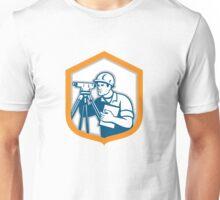 Surveyor Geodetic Engineer Survey Theodolite Shield Retro Unisex T-Shirt