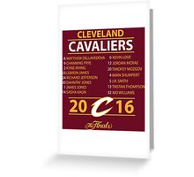 Cleveland Cavaliers 2016 NBA Champions vs. Golden State Warriors Greeting Card