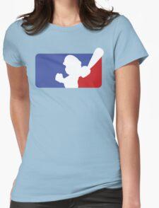 Major League Mario (No Border) Womens Fitted T-Shirt