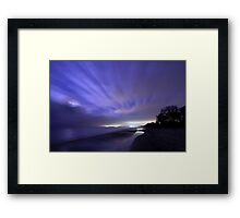 Coastline at Night. Framed Print