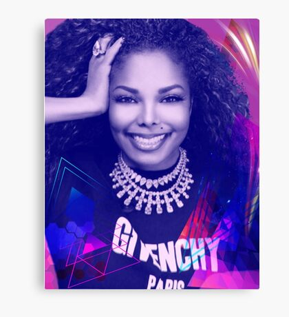 Beautiful Janet  Canvas Print
