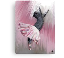 Les Pointes, Lil Grey in Pink Canvas Print