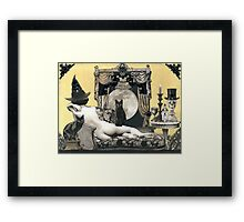 Skyclad Witch with Familiars Framed Print