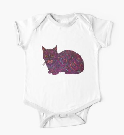 color cat  One Piece - Short Sleeve