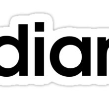Indiana Adidas Font Sticker
