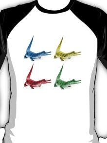 Four Coloured Crocodiles T-Shirt