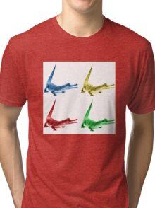 Four Coloured Crocodiles Tri-blend T-Shirt