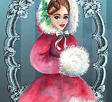 Christmas Doll by thatvintagelook