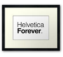Helvetica Framed Print