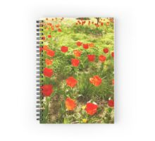 Fire-colored Tulips Spiral Notebook