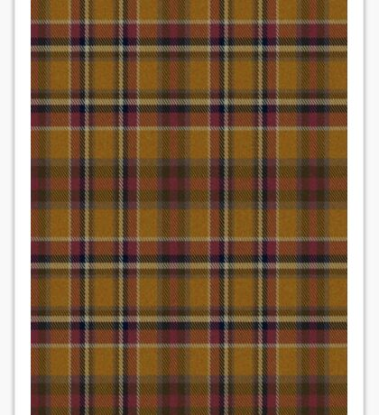 02463 Hidalgo County, Texas Fashion Tartan  Sticker