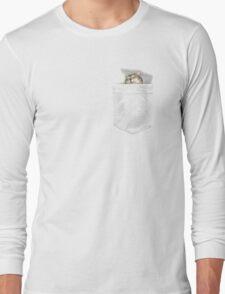 Cat Sleeping in my Pocket EDR 904 Long Sleeve T-Shirt