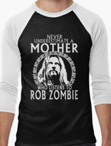 Never Underestimate A Mother Who Listens To Rob Zombie T-Shirt Men's Baseball ¾ T-Shirt