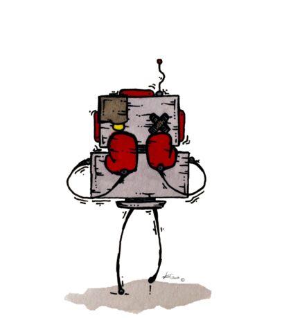 NUMB LOK the robot Sticker